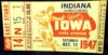 1947 NCAAF Iowa ticket stub vs Indiana