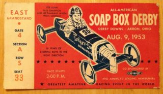 1953 Soap Box Derby ticket stub
