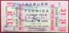 1954 NCAAF Florida ticket stub vs Auburn
