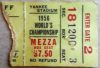 1956 NFL Championship ticket stub Giants vs Bears