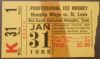1965 CHL Memphis Wings ticket stub vs St. Louis Braves