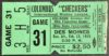 1969 IHL Columbus Checkers ticket stub vs Des Moines