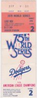 1978 World Series Game 2 ticket stub Yankees at Dodgers