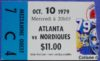 1979 NHL Quebec Nordiques debut ticket stub vs Atlanta Flames