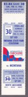 1984 CHL Indianapolis Checkers unused ticket vs Montana
