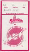 1997 Lowell Spinners ticket stub vs Watertown Indians