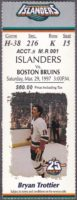 1997 NHL Islanders ticket stub vs Boston Bruins