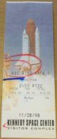 1998 Kennedy Space Center ticket stub Cape Canaveral