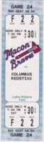 1998 Macon Braves ticket stub vs Columbus Redstixx