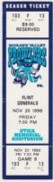 1998 UHL Mohawk Valley Prowlers unused ticket vs Flint Generals