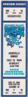 1999 UHL Mohawk Valley Prowlers unused ticket vs Asheville Smoke