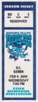 2000 UHL Mohawk Valley Prowlers ticket stub vs BC Icemen