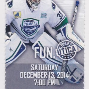 2014 AHL Utica Devils ticket vs Syracuse 12/13/2014