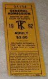 Kenosha Twins ticket stub