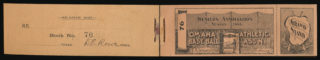 1895 Western Association Omaha Omahogs ticket book