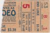 1940 Madison Square Garden Rodeo ticket stub with Pete Grubb