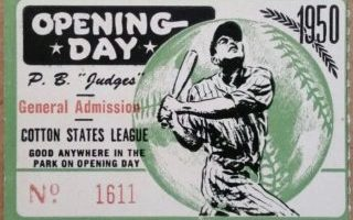 Top 15 Vintage Opening Day Ticket Stubs