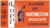 1965 NCAAF Northwestern Ticket Stub vs Illinois