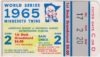 1965 World Series Game 2 ticket stub Dodgers vs Orioles