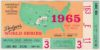 1965 World Series ticket stub Game 3 Orioles vs Dodgers