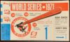 1971 World Series Game 1 Orioles ticket stub vs Pirates