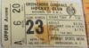 1975-76 SHL Greensboro Generals Ticket Stub