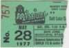 1977 San Jose Missions ticket stub vs Salt Lake City Gulls