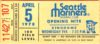 1978 Seattle Mariners ticket stub vs Minnesota Twins Opening Day