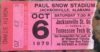 1979 NCAAF Jacksonville State ticket stub vs Tennessee Tech