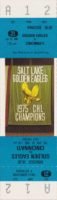 1980 Salt Lake Golden Eagles ticket vs Cincinnati Stingers
