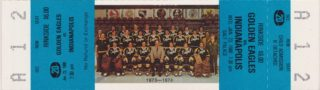 1980 Salt Lake Golden Eagles ticket vs Indianapolis Checkers