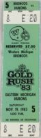1983 NCAAF Western Michigan ticket vs Eastern Michigan