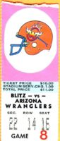 1983 USFL Chicago Blitz ticket stub vs Arizona Wranglers