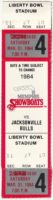 1984 USFL Memphis Showboats unused ticket vs Jacksonville Bulls