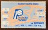 1986 NBA Indiana Pacers ticket stub vs Detroit Pistons