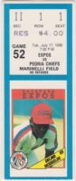 1990 Rockford Expos ticket stub vs Peoria Chiefs