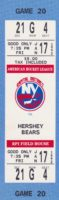 1992 AHL Capital District Islanders full ticket vs Hershey Bears