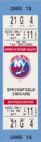 1992 AHL Capital District Islanders full ticket vs Springfield Indians