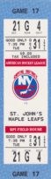 1991 AHL Capital District Islanders full ticket vs St. John's Maple Leafs