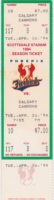 1994 Phoenix Firebirds ticket vs Calgary Cannons