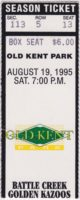 1995 Whitecaps ticket stub vs Battle Cats
