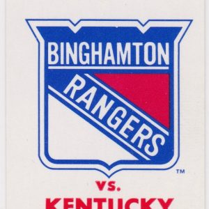 1996 AHL Binghamton Rangers ticket vs Kentucky 12/31/1996