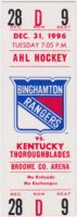 1996 AHL Binghamton Rangers full ticket vs Kentucky Thoroughblades