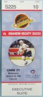 1996 Vancouver Canucks ticket stub vs Dallas Stars