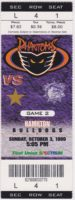 1999 AHL Philadelphia Phantoms ticket vs Hamilton