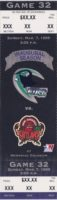 1999 WPHL Corpus Christi Ice Rays ticket vs San Angelo Outlaws