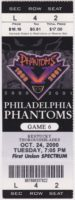 2000 AHL Philadelphia Phantoms ticket stub vs Kentucky