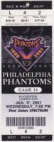 2001 AHL Philadelphia Phantoms ticket vs Rochester