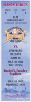 2002 Wilmington Blue Rocks ticket vs Lynchburg Hillcats