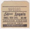 California Angels ticket stub